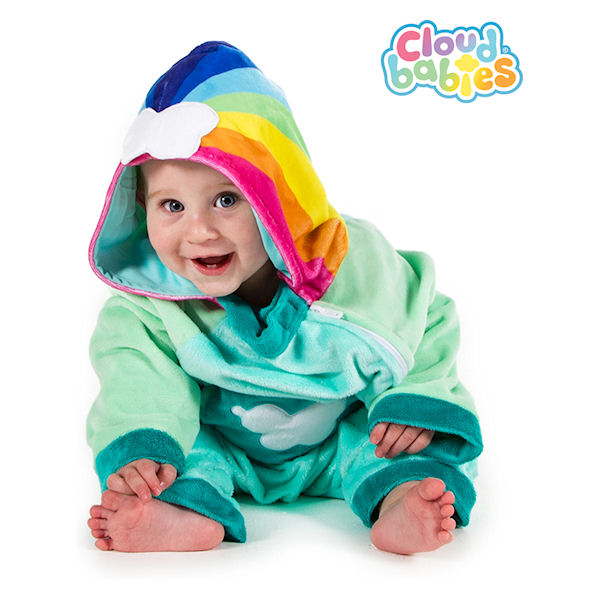 7d3eee9330e7 Details about 2-3 years BBC Cloudbabies Baba Green Cloud Romper Costume