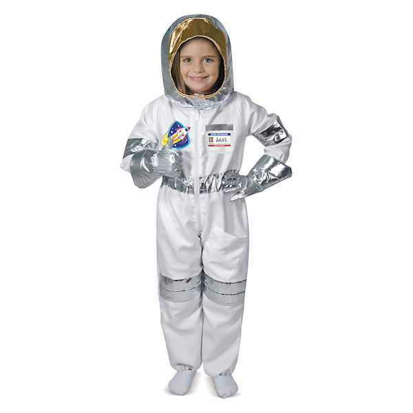 astronaut spaceman kost m von melissa doug kind junge m dchen kinder kost m 772185035 ebay. Black Bedroom Furniture Sets. Home Design Ideas