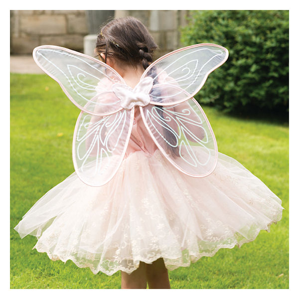 Vintage Peach Fairy Dress With Wings By Travis Dress Up By