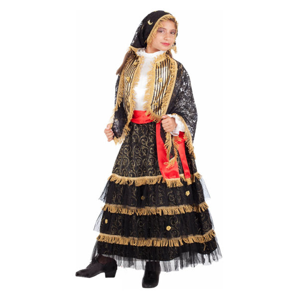 Zingara Child Gipsy Fortune-Tellers Costume Dress by